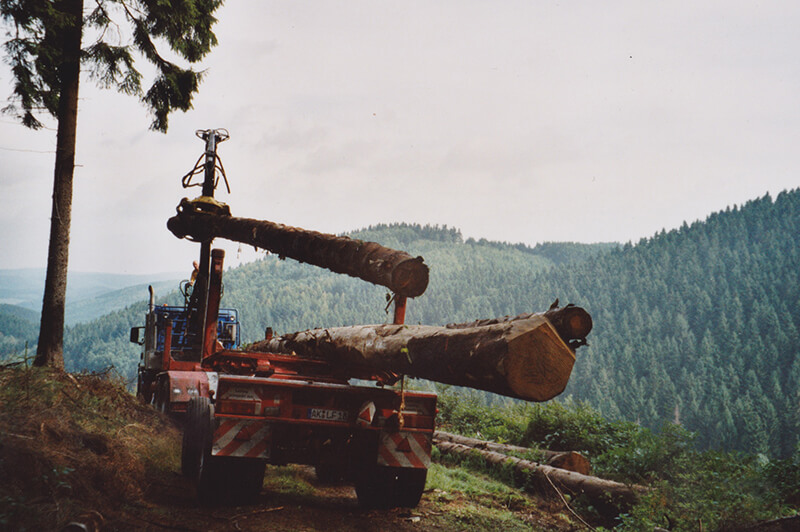 Holztransporte